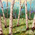 Carefree Birches by Beth Capogrossi