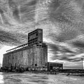 Cargill Sunset In B/w by Guy Whiteley