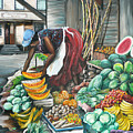 Caribbean Market Day by Karin  Dawn Kelshall- Best