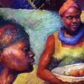Caribbean Women With Oranges by Ellen Dreibelbis