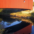Carleton Covered Bridge Reflection by John Burk