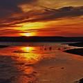 Carmel Colored Sunset In Kansas.  by Greg Rud