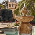 Carmel Fountain Courtyard by Sharon Foster