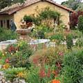 Carmel Mission Courtyard Garden by Carol Groenen
