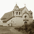 Carmel Mission  With The New Peaked Roof  1884 by California Views Archives Mr Pat Hathaway Archives