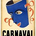 Carnaval En La Habana 1941 - Carnival Mask - Retro Travel Poster - Vintage Poster by Studio Grafiikka