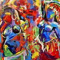 Carnival- Large Work by Angie Wright