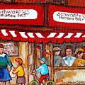Carole Spandau Paints Montreal Memories - Montreal Landmarks - Schwartzs Hebrew Deli St. Laurent  by Carole Spandau