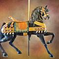 Carousel Black Stallion Body by Leslie Montgomery