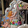 Carousel Horse And Angel by Garry Gay