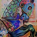 Carousel Horse Peach Dream by Patty Vicknair
