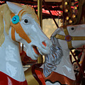 Carousel Horses At A Fair by Robert Hamm