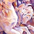 Carousel Horses by Joan  Jones