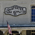 Carpenter Farm Supply Co Sign by Selena Wagner