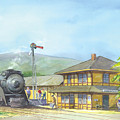 Carpinteria Train Depot by Ray Cole