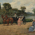 Carriage Ride By The River by Francisco Miralles