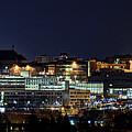 Carrier Dome And Syracuse Skyline Panoramic View by Rod Best