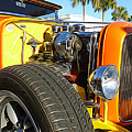 Cars - 1932 Ford Roadster Hot Rod - Engine And Tire Close Up by Jason Freedman