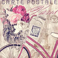 Carte Postale Bicycle by Mindy Sommers