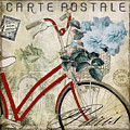 Carte Postale Vintage Bicycle by Mindy Sommers