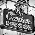 Carter Drug Co - Bw by Stephen Stookey