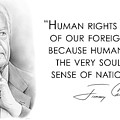 Carter On Human Rights by Greg Joens