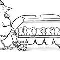 Carton Of Chicks by Robert Leighton