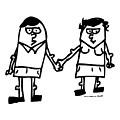 Cartoon Couple by Karl Addison