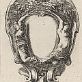 Cartouche With Two Nymphs Metamorphosed Into Trees by Stefano Della Bella