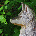 Carved Dogs Head by Deborah Bowie
