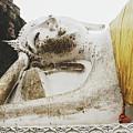 Carved Stone Buddha Statue Wat Temple Complex In Old Siam Kingdom, Ayutthaya, Thailand by Srdjan Kirtic