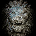 Carved Stone Lion's Head by Loriental Photography
