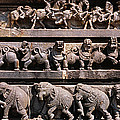 Carving On The Wall Of A Temple by Panoramic Images