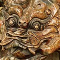 Carvings In Jade - 3 - A Dragon's Face  by Hany J