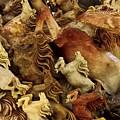Carvings In Jade - 6 - Wild Horses  by Hany J