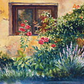 Casale Grande Rose Garden by Ann  Cockerill