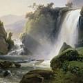 Cascade Dit Autrefois La Cascade De Tivoli by Charles Joseph