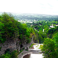 Cascadilla Gorge Cornell University Ithaca New York Panorama by Thomas Woolworth