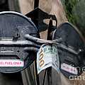 Cash In Truck Fuel Tank Fill Spout by William H. Mullins