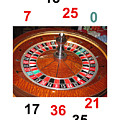 Casino Roulette Wheel Lucky Numbers by Tom Conway