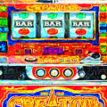 Casino Slot Machine . One Arm Bandit . Triple Bar Bonus Jack Pot by Wingsdomain Art and Photography