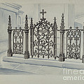 Cast Iron Gate And Fence by Al Curry