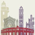 Castellon Skyline Poster by Pablo Romero