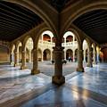 Castillo De Luna Columned Courtyard Rota Cadiz Spain by Pablo Avanzini