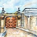 Castillo De San Cristobal Entry Gate by Carlin Blahnik CarlinArtWatercolor