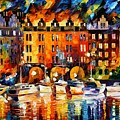 Castle By The River by Leonid Afremov