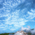 Castle Geyser Yellowstone Np Photo Painting_grk7577_05262018 by Greg Kluempers