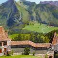 Castle Gruyere Swiss by Leonor Thornton