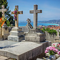 Castle Hill Graves Overlooking Nice, France by Liesl Walsh