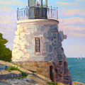 Castle Hill Light Newport Ri by Betty Ann Morris